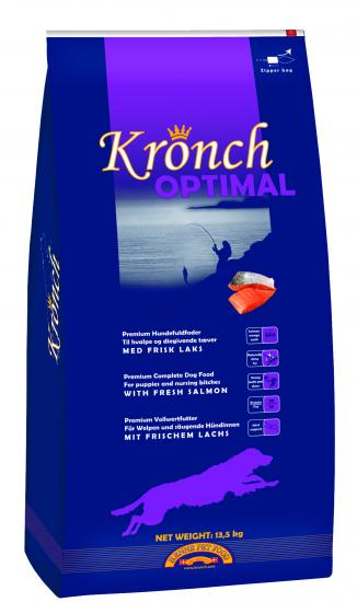 CROQUETTE SAUMON KRONCH OPTIMAL JUNIOR 13.5 KGS